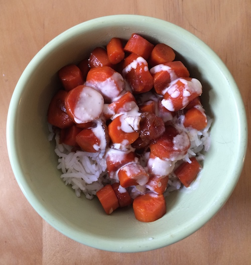 The Mouthful: Soy Glazed Carrot Rice Bowls with Tahini Sauce