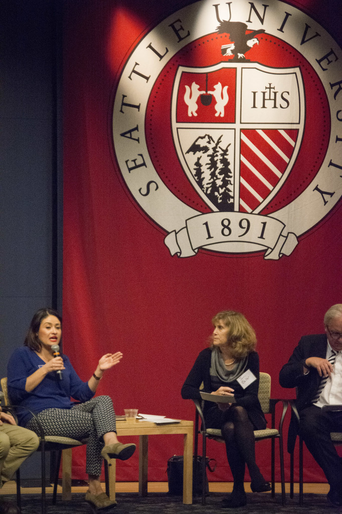 Candidates for the City Council of Seattle came to speak to the Seattle University members about issues that are relative to todays city population.