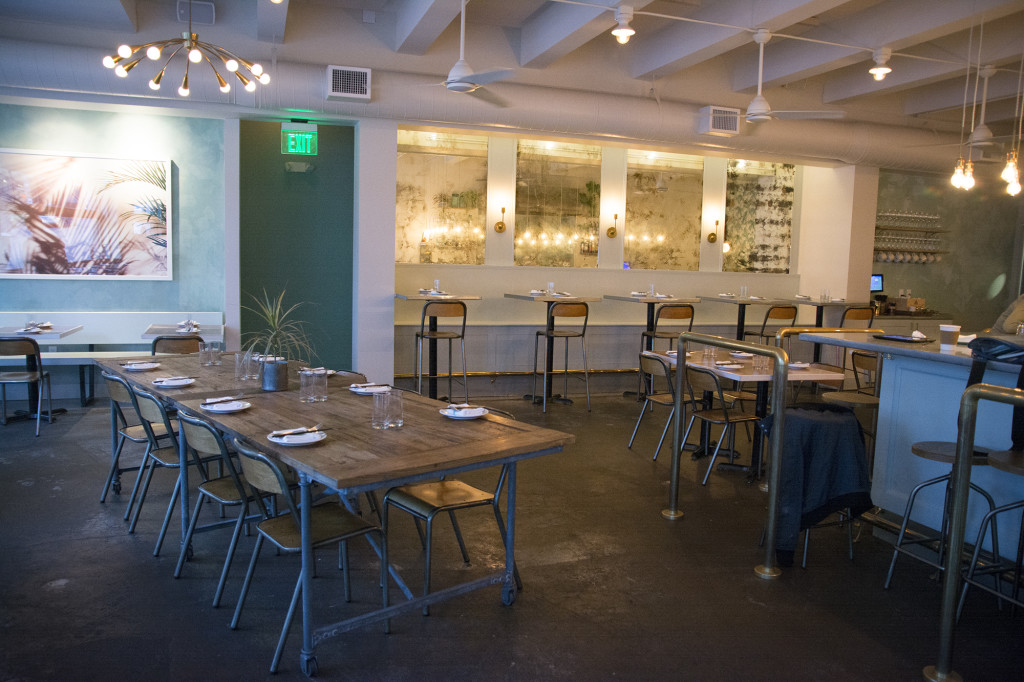 The restaurant Stateside is located on East Pike St. and Minor, serving a variety of French and Asian fusion cuisine.