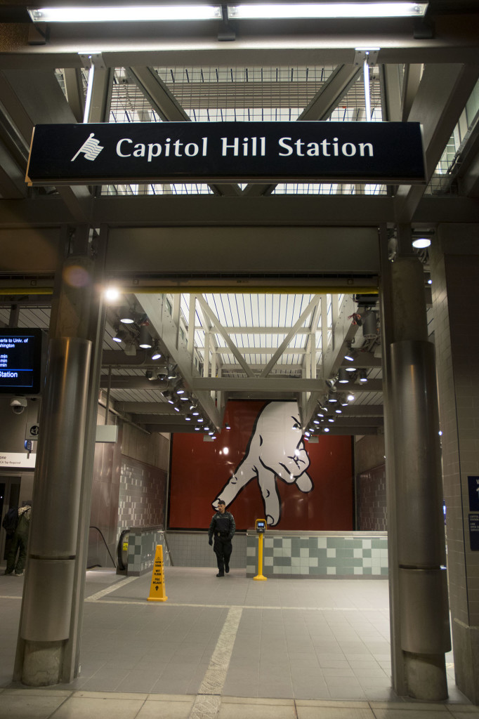The newly constructed Capitol Hill Light Rail station is now fully operational.