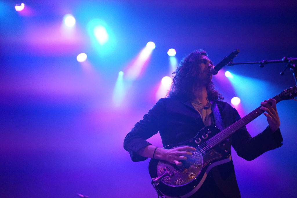 "Hozier performs ""Nina Cried Power"" at the Paramount on Nov. 18."