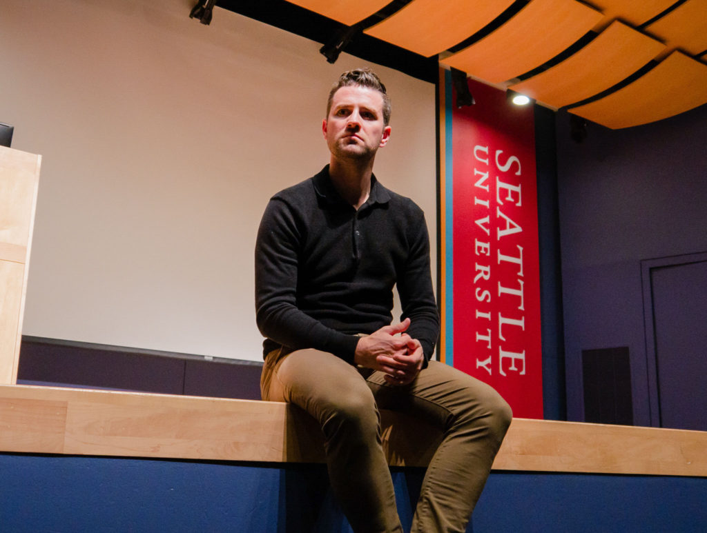 Nick McCarvel, sports journalist and Seattle University alumni, bounces between topics of ethics and truth in reporting.
