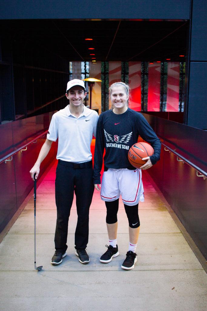Twin athletes Jack and Sarah Rahon