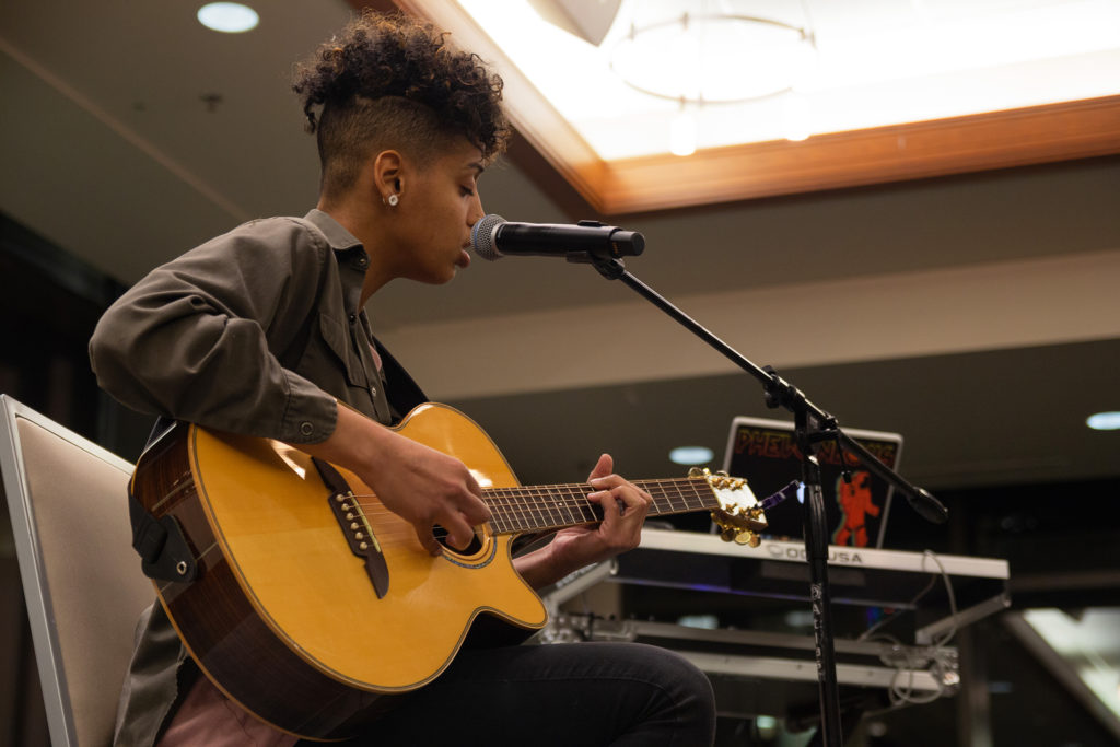 Payge Turner performed a mix of beautifully written ballads and bouncing pop songs during her performance at the BSU showcase.