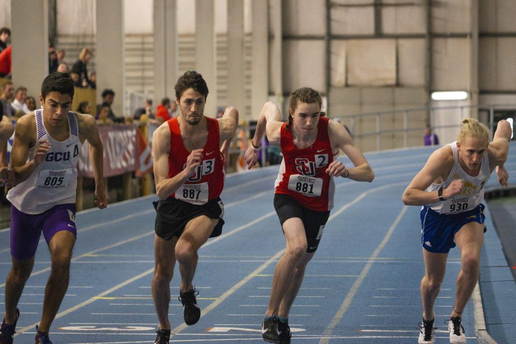 Left: Nathan Pixler, Right: Stewart Keene; Pixler won first place in the 800m, receiving a gold medal.