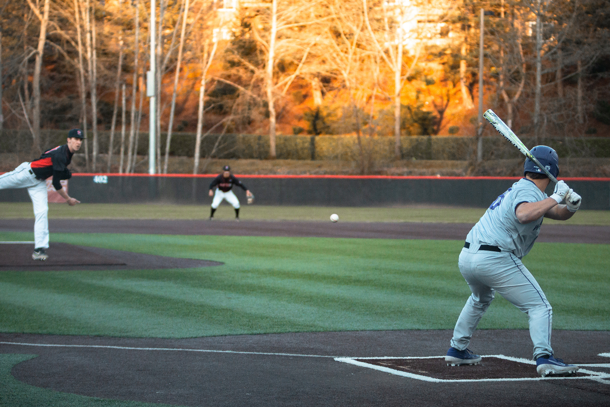 Will Smith pitching to the University of Washington's lineup in their home game against the Huskies on Tuesday, March 5, 2019.
