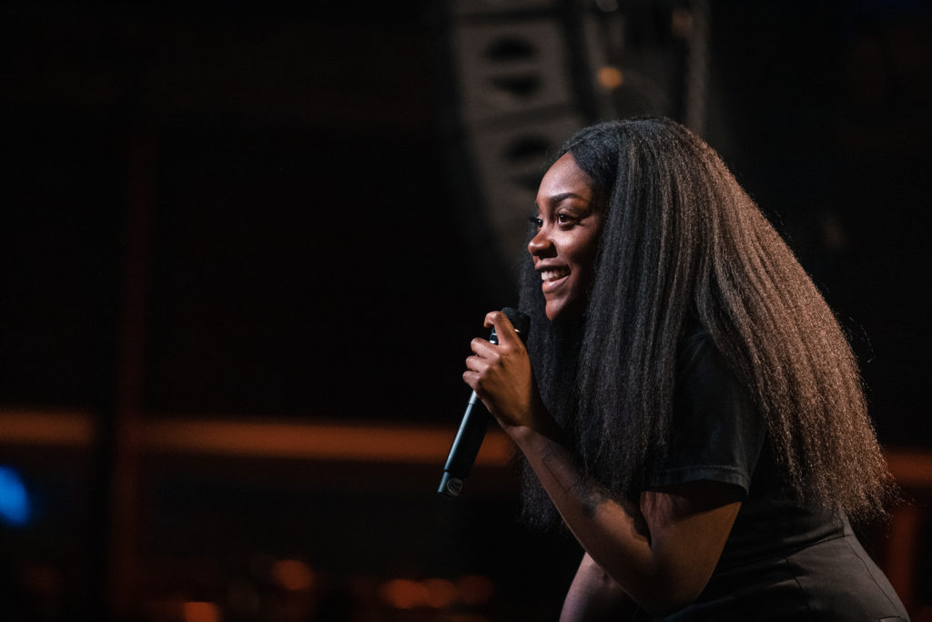Noname on-stage at Seattle's Showbox at the Market on Sunday, March 10, 2019.