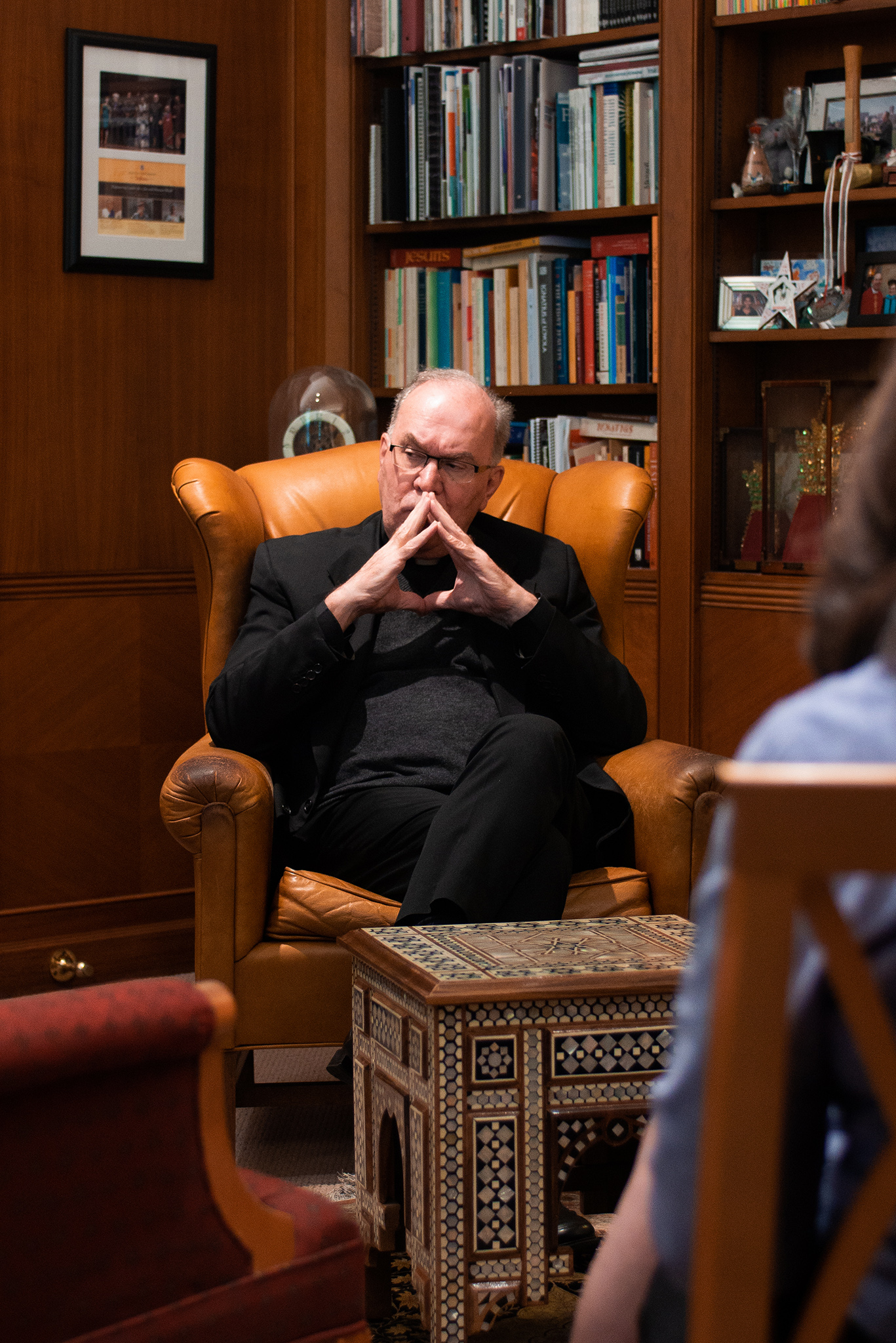 President Father Steven V. Sunborg S.J. in his office.