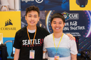 SU e-Sports club members going by the handles, Ahi and BayLak, played for the Overwatch team during the Husky Gaming Expo 2019.