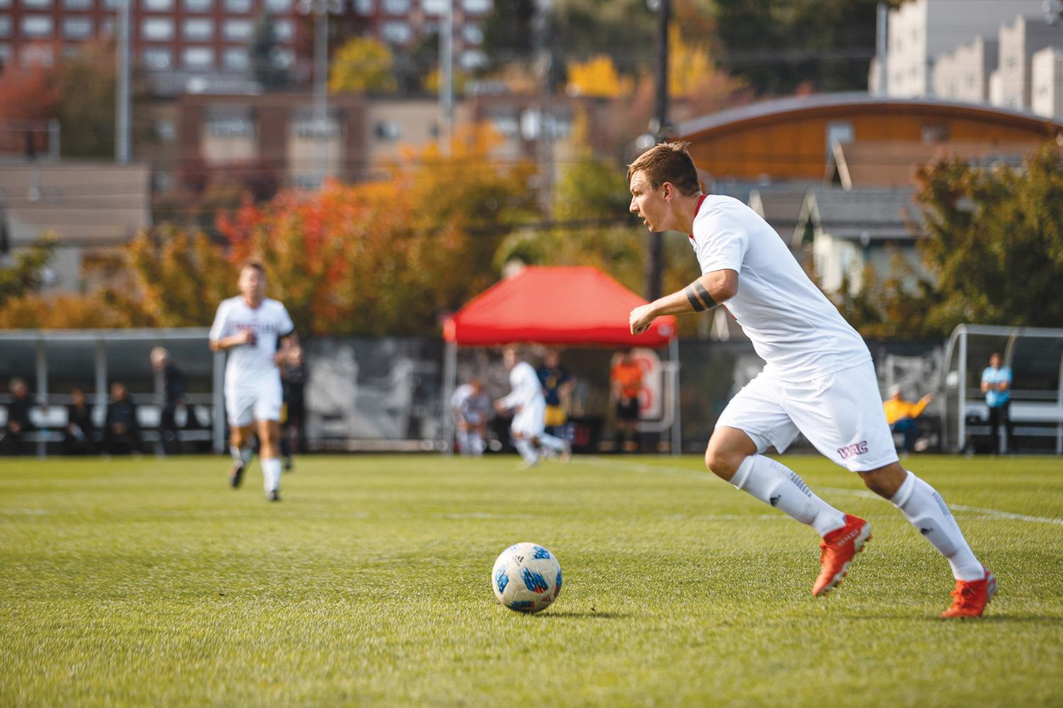Defender Kees Westra in play during Sunday's match against Kansas City at Championship Field.