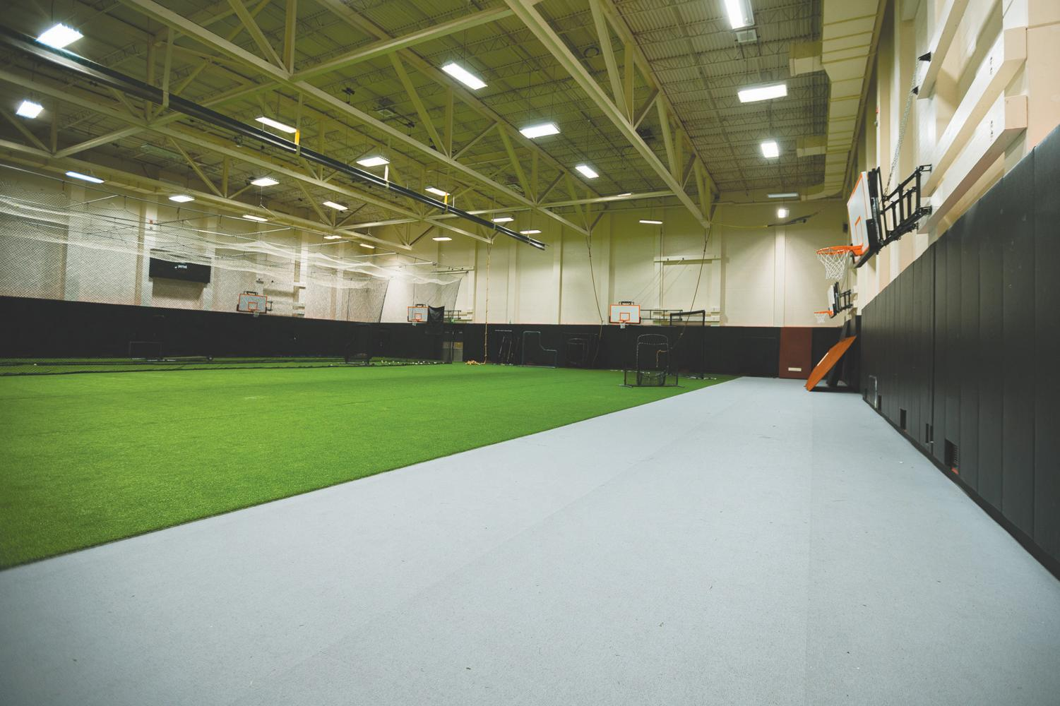 With loss of access to the South Court facilities in the Redhawk Center, students struggle to accept the Astroturf Gym as their new recreation area.