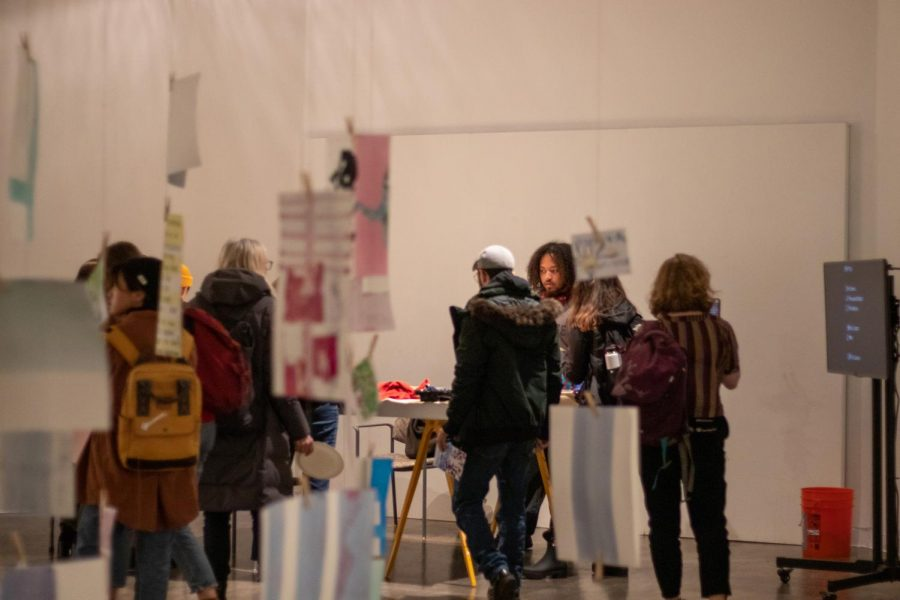 Students+and+faculty+came+together+to+raise+awareness+of+climate+change+by+creating+art+with+meaning+at+the+%E2%80%9CFor+The+Record%E2%80%9D+exhibition.+