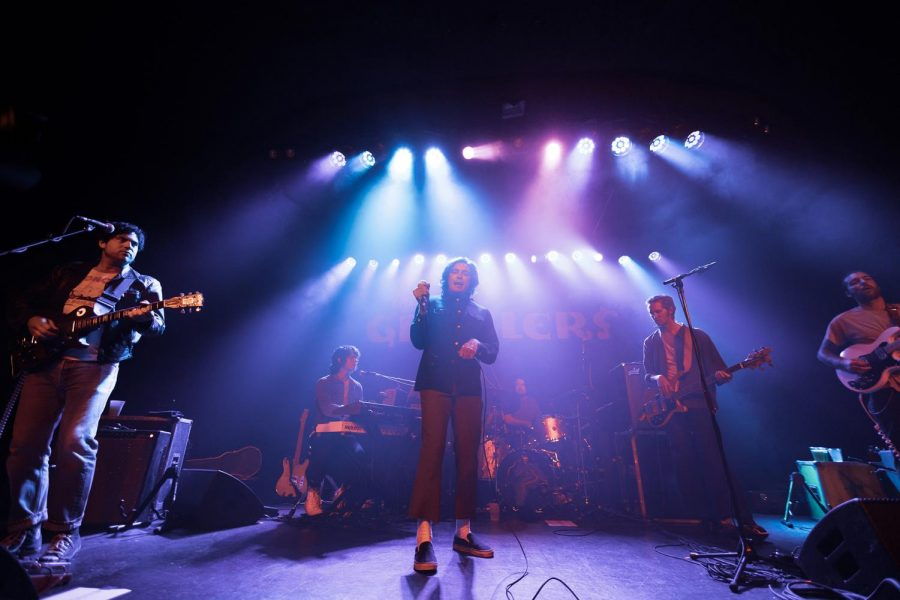 Front view of the Growlers performing at The Showbox