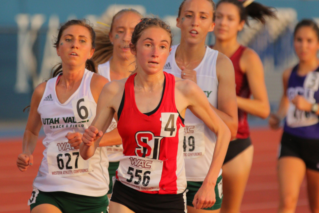 Olivia Stein races at the 2018 WAC Championships