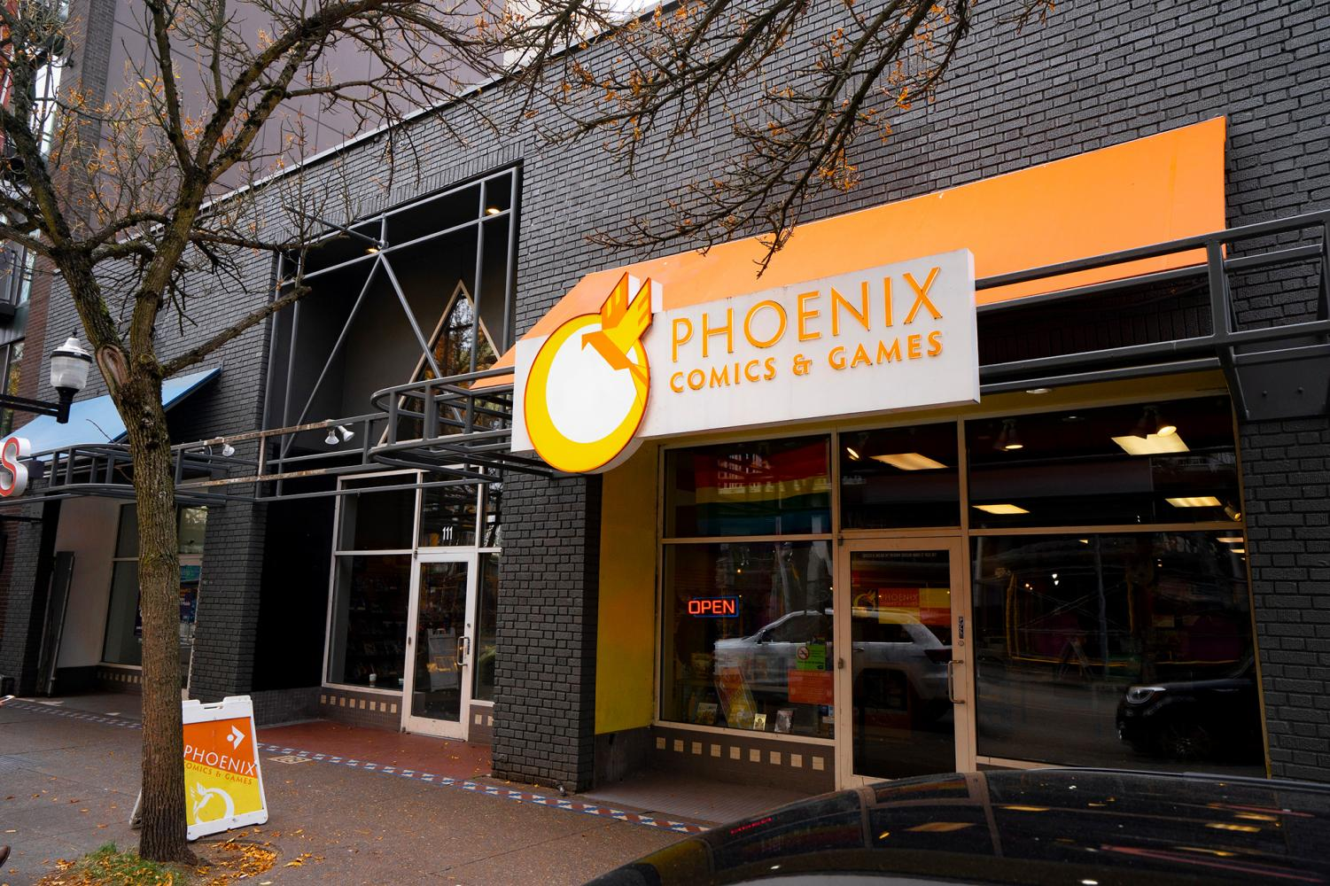 The exterior of the newly-expanded Phoenix Comics & Games.