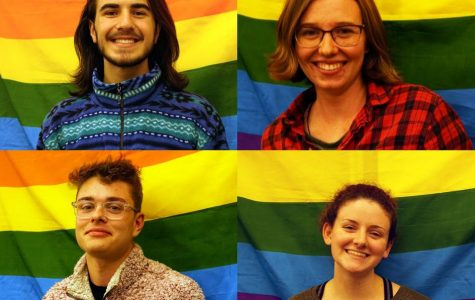 Members Daniel Ansom, Megan Oakes, Jared Fontenette, and Samantha Taber (left to right) were among many that enjoyed the Queer People of Faith Brunch for Dinner event.