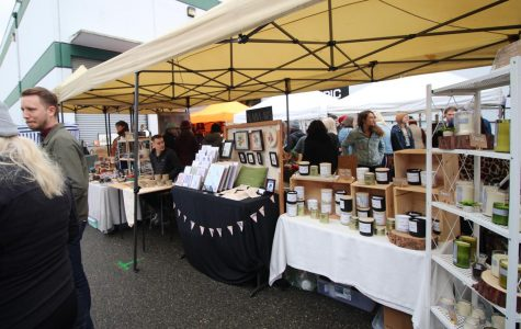 Handmade candles and trinkets were some of the big attractions at the SODO Flea Market.