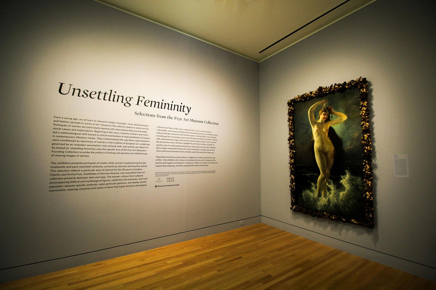 "Curated by Seattle U Art History Associate Professor Naomi Hume, the ""Unsettling Feminity"" exhibition challenges depictions of femininity."