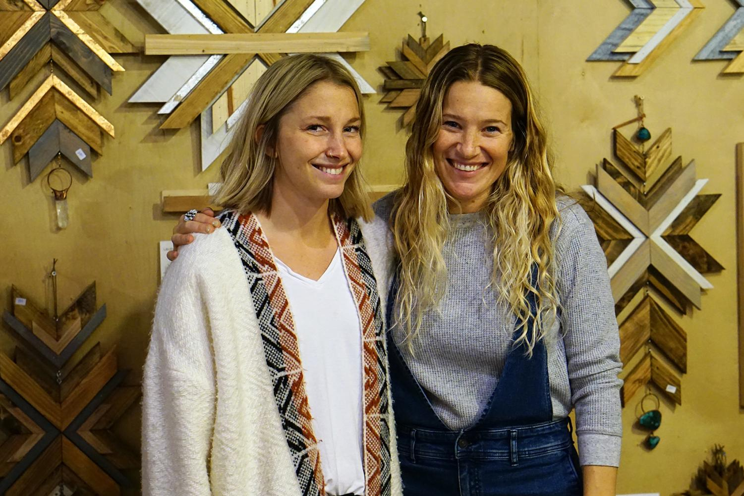 Laura Burkhart and Tawni Eakman, the founders of the Full Moon Market