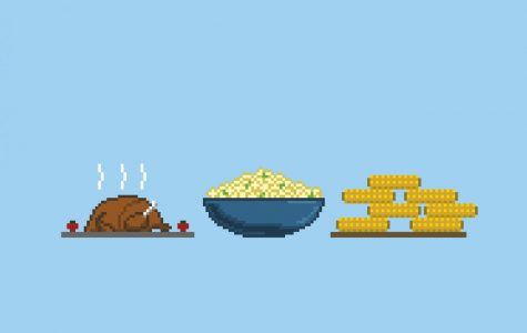 Pixel Art of a potluck
