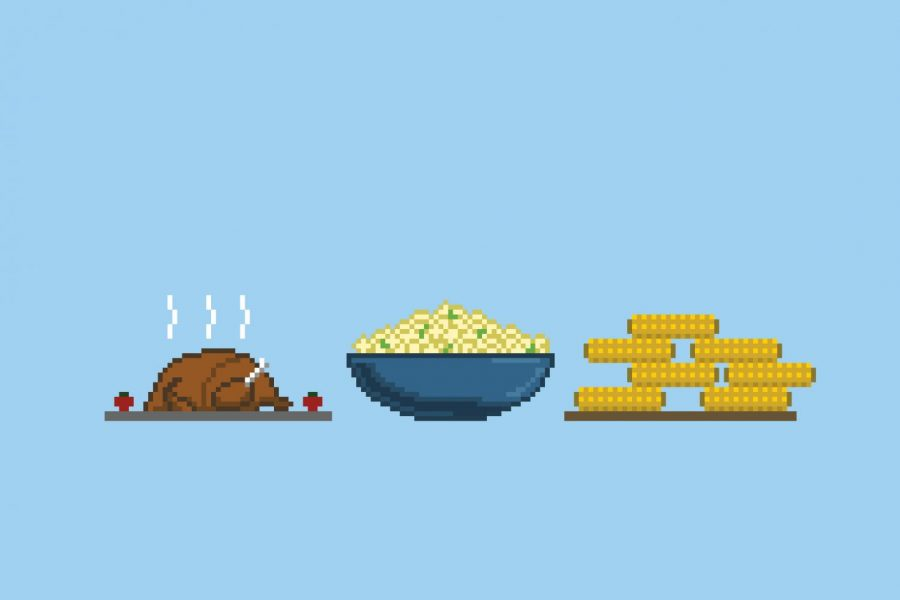 Pixel Art of a potluck