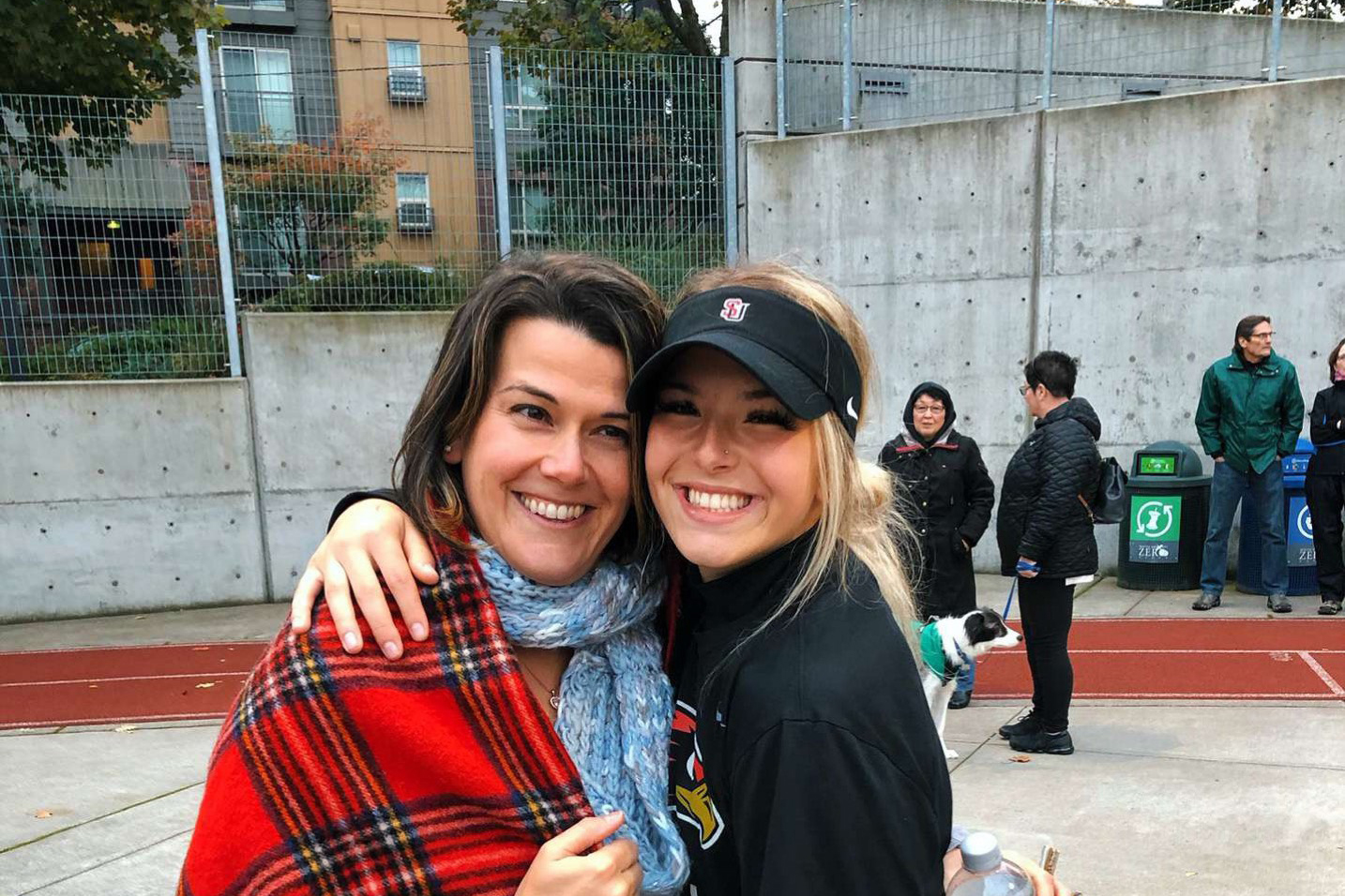 Bailey Haddock (right), a first-year on Seattle U's softball team, looks forward to working with her teammates for a spot in the top 25 teams.