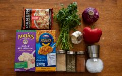 Some fun ways to spice up your mac and cheese or ramen include adding pepper, garlic salt, onion powder and some fresh vegetables.