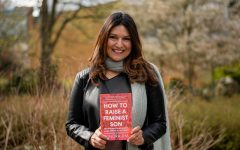 Dr. Jha with her book: 'How to Raise a Feminist Son.'